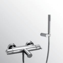 Huber Tratto Thermostatische Badkraan met douchegarnituur Chroom TT.D21010.21