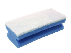 Blanco spons voor reiniging van rvs gepolijste oppervlaktes 221598
