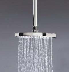 Waterevolution Flow hoofddouche 200mm met plafondaansluiting chroom T164201