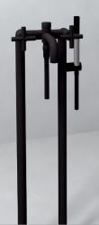 Zazzeri Da-Da Vrijstaande badmengkraan 47010450A00 Mat zwart