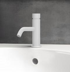 Waterevolution Flow Fonteinkraan zelfsluitend mat wit T110TPBR