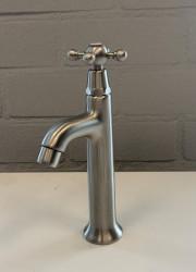 PB klassieke fonteinkraan met sterknop koud water RVS 1208855552