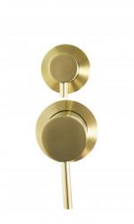 Rubio Inox inbouw mengkraan voor douche of bad met 2-weg omsteller PVD kleur geborsteld goud 1208920713