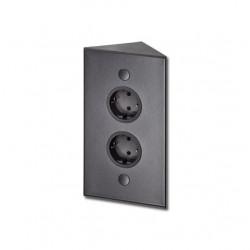 Energiezuil met 2 stopcontacten penaarde ST3007/20 zwart