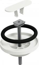 Clou Flush/First afvoerplug en sifon aansluiting mat wit