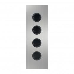 Energiezuil met 4 stopcontacten randaarde RVS 1208953218