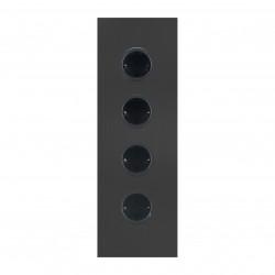 Energiezuil met 4 stopcontacten randaarde zwart 1208953219