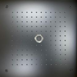 Rubio inbouw Regendouche met tube uitloop plafonddouchekop 38x38cm mat zwart 1208953315