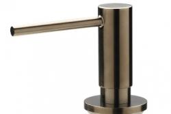 Reginox inbouw zeepdispenser PVD Gun Metal voor bladmontage navulbaar via bovenkant 1208953366