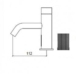 Waterevolution Flow elektronische wastafelkraan infrarood op batterijen Gun Metal 1208953936