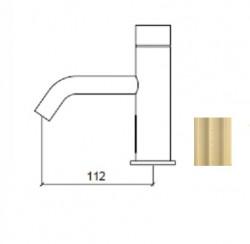 Waterevolution Flow elektronische wastafelkraan infrarood op batterijen light gold 1208953937