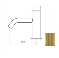 Waterevolution Flow elektronische wastafelkraan infrarood op 230volt light gold 1208953947