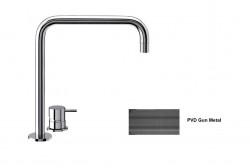 Waterevolution Flow 2-gats wastafelkraan  hoge uitloop 222 PVD Gun Metal T122HGME