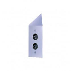 Energiezuil met 2 stopcontacten randaarde ST3007/20C RVS